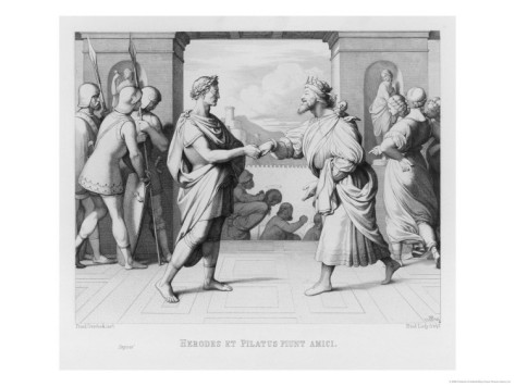 friedrich-overbeck-pilate-and-herod-resolve-their-differences-and-pilate-hands-jesus-over-to-herod-s-jurisdiction
